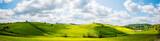 Panorama de paysages du Val d'Orcia en Toscane - 147347418