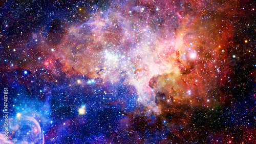 Fototapeta Nebula and galaxies in deep space. Elements of this image furnished by NASA.