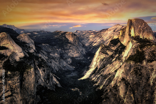 Plakat Glacier Point Sunset