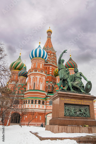 Poster St. Basil Cathedral in Moscow