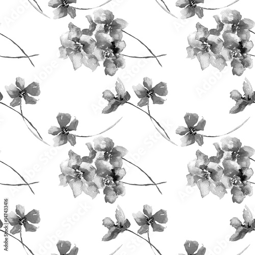 Seamless pattern with wild flowers - 147433416