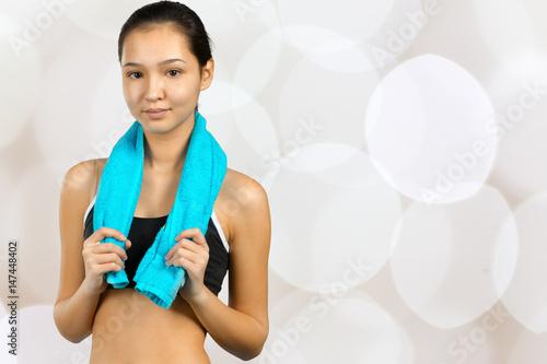 Juliste Portrait of sporty female
