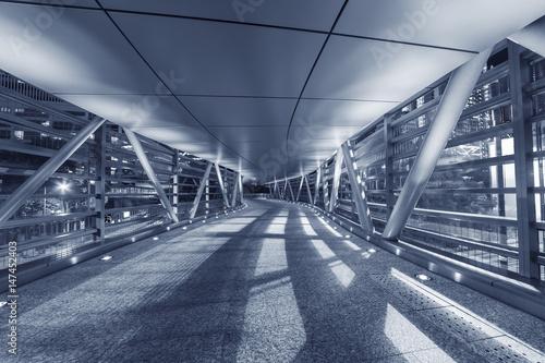Empty modern pedestrian walkway - 147452403