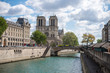 Embankment of the river Seine and Cathedral Notre Dame de Paris