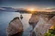 Freshwater Bay, Isle of Wight, England at Sundown