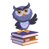 Nice owl, he is up to a few books