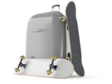 Skateboards with luggage