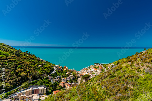 Foto op Canvas Liguria Panorama of the five lands in liguria italy
