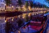 Amsterdam. City Canal at dawn.