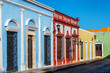 Brightly Colored Colonial Buildings
