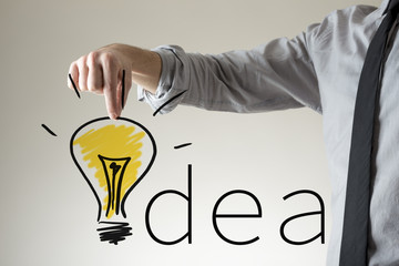 Light bulb in the word Idea