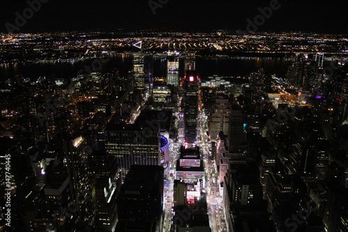 Deurstickers Las Vegas New York skyline at night