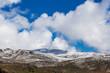 Snowy mountains landscape. Australian Alps, Mount Kosciuszko National Park, NSW, Australia