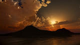 Peaceful Sunset or dawn. Photo real 3D rendering - 147786608