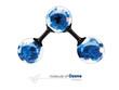 3d Illustration, molecule of ozone, isolated white