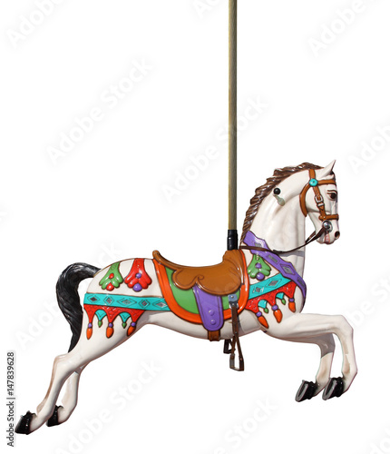 merry-go-round horse with pole