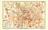 Plan of Graz, Austria (from Meyers Lexikon, 1895, 7/896)