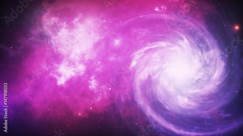 Spiral galaxy, 3D illustration of deep space object. - 147918033