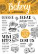 Bakery menu restaurant, food template. - 147956807