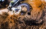 Close-up of motocross wheel. - 147961824