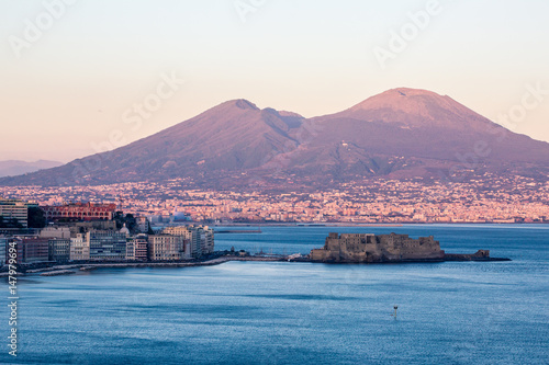 Staande foto Napels Naples from Posillipo