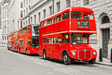 Red bus in London
