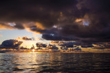 Sunset colors of Seychelles