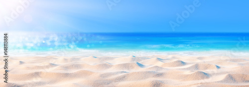 Beach Background - Beautiful Sand And Sea And Sunlight