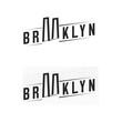 Logo of the Brooklyn bridge. Silhouette of the bridge in the font.