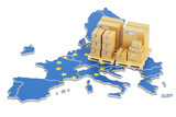 Shipping and Delivery from European Union concept, 3D rendering - 148136646