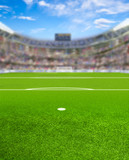Soccer Arena With Fans and Copy Space