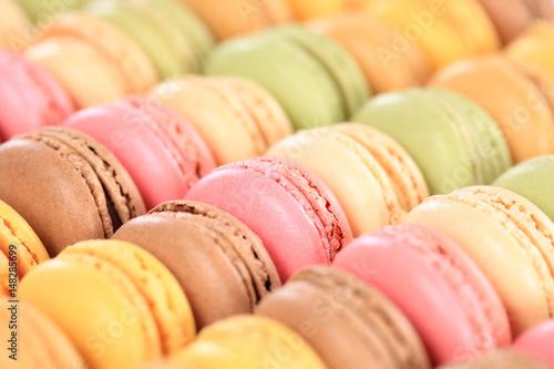 Foto Spatwand Macarons Macarons Macaroons Kekse Nachtisch Dessert aus Frankreich