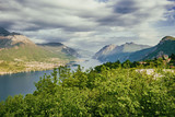 Beautiful lakescape and cloudscape seen from Civenna, Italy