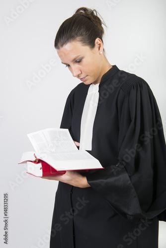 Poster portrait d'avocat en robe