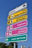 Directional sign in Spanish, Havana, Cuba