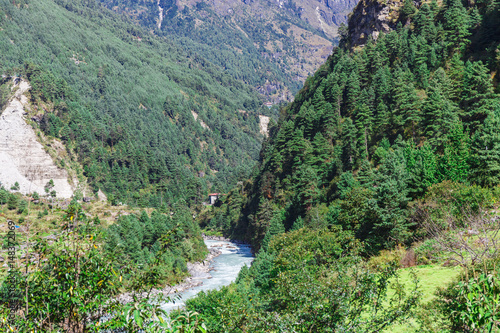 Keuken foto achterwand Olijf Pure mountain river