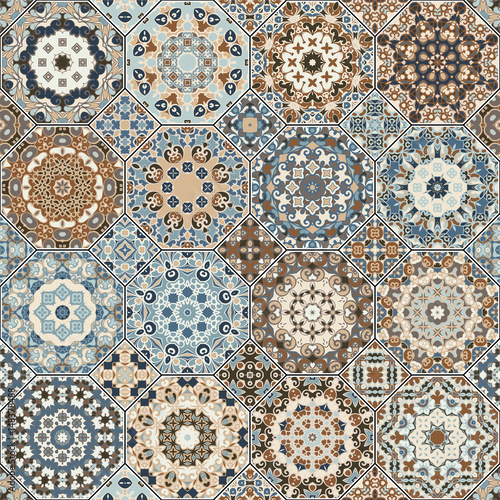Set of octagonal and square patterns. - 148378488