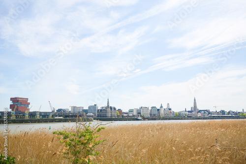 Keuken foto achterwand Antwerpen View on Antwerp by the River Scheldt in Flanders, Belgium