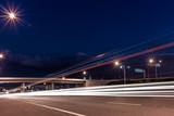 Road and lights at night