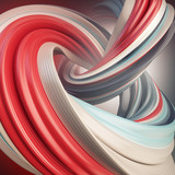 3d render of abstract smooth bright colors shape