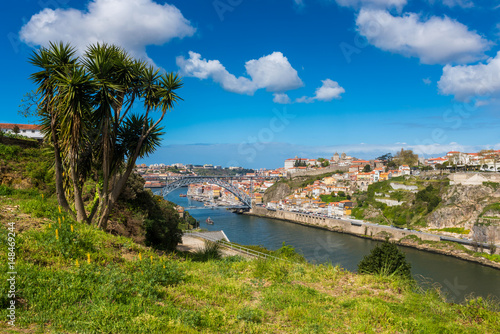 Poster Porto and Douro River Portugal