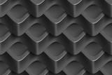 Abstrakcyjne geometryczne fale, deseń 3D
