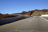 Highway and Hoover Dam bridge