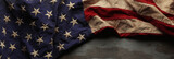 Vintage red, white, and blue American flag for Memorial day or Veteran's day background - 148563616