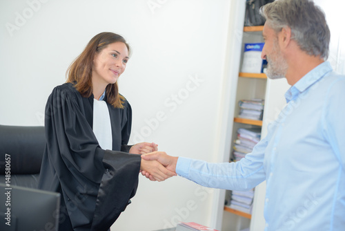 greeting the client