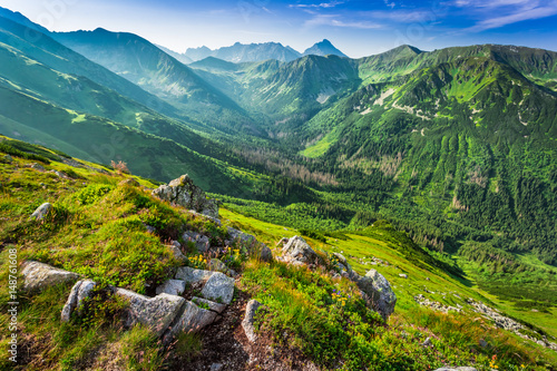 Beautiful dawn in the Tatras mountains, Poland, Europe