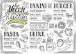 Vegan menu restaurant, food template. - 148782088