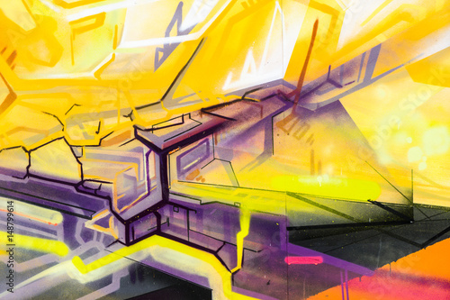 Section of spraycan art.