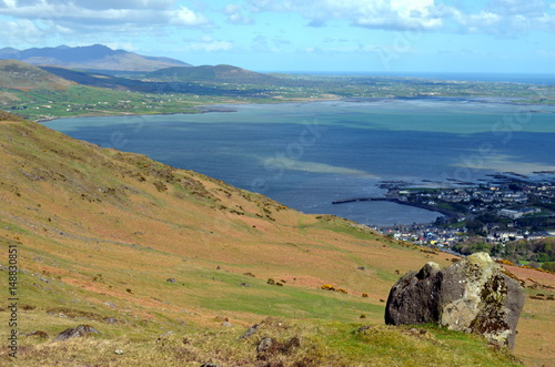 Carlingford Lough and Mourne Mountains from Slieve Foye, Co Louth, Ireland