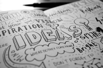 Handwritten Sketch Notes IDEAS © treenabeena